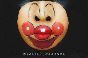 LMAO Sorry @chakacola your Anpanman become Clown 🤡 😭🤣🤣🤣 #ladies_journal #facepainting #facepaint #anpanman #anpan #sfxmakeup #sfx #mua #makeup #undiscovered_muas #clozette #clozetteid