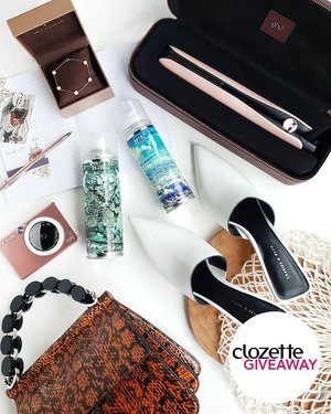 #ClozetteGiveaways: Gearing up for the new year? For our second#ClozetteNewYearNewYougiveaway, one (1) lucky winner can get these Travel Go-Getter essentials worth ~SGD1090/PHP40,700/MYR3,340. The package includes a Canon iNSPiC; Charles & Keith white mules and top handle bag (Winter 2019 Collection); ghd Limited Edition Royal Dynasty Gold Styler; IGK Direct Flight Dry Shampoo & Beach Club Texture Spray; and a Lee Hwa Jewellery bracelet. All you have to do is:  1. Follow@clozettecoon Instagram, 2. LIKE this photo, 3. COMMENT and share your top travel destination for 2020, 4. TAG 3 friends to follow us and to spread the love! (Tip: The more friends you tag, the higher your chances of winning!). Giveaway runs from today until 31 December 2019 (11:59PM), and is open to residents of Singapore, Malaysia, and the Philippines.#Clozette