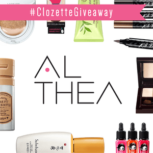 #ClozetteGiveaway: Want to win a K-Beauty shopping spree on ALTHEA and stock up on the latest K-Beauty brands you've always wanted try? Here's what you have to do!  1) Be a member of Clozette.co 2) Like this photo 3) Leave a comment by answering this simple question: