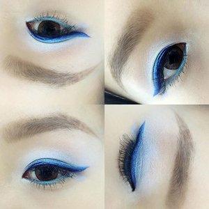 💙Gradient blue eye! TGIF!! Have a good weekend everyone💙 eyebrow:@anastasiabeverlyhills Browwiz in Soft brown 👀:Eyeshadow using YSL 5 Couleurs Couture Palette 06, Dark blue eyeliner using Majolica Majorca BL444, Underliner using Sephora flashy linen waterproof 08  #vscosg #vscocam #makeup #beauty #anastasiabeverlyhills #dressyourface #motd #hkig #clozette #femaleallure