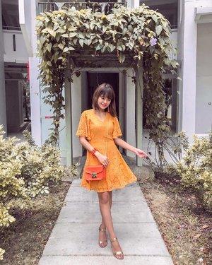 🏮十三🏮 ;In citrus festive colours for baby shower during lunar new year 🧡💛🧡💛...#dressedinfayth #cny #clozette