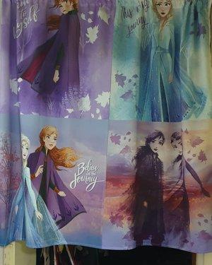 New curtains for our room for xmas #clozette #clozettecosg #clozettedaily #clozetter #clozetteco #frozen2 #frozen #anna #elsa #elsaandanna