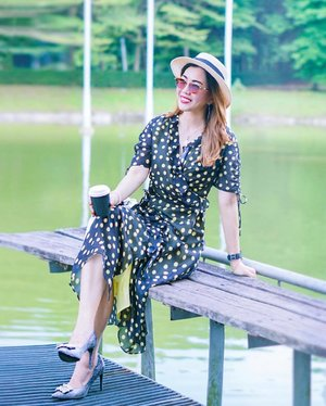 Weekend Vibes ☕️ . A less hectic weekend where I can have my me time and good coffee, ahhh... How's your weekend so far? . . Polka Dot Dress @pomelofashion  Sunglasses @icberlinofficial  Heels @pazzionmalaysiawest . . . #kellyootd #pomelafashion #icberlin #pazzionmalaysiawest #instastyle #clozette #bblogger #fblogger #wiw #liketkit