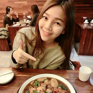 Rainy day's dinner. Spicy chicken with glass noodle~ #seoul #dinner #clozette #fotd #smile #travel