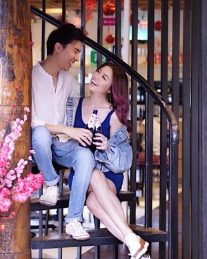 Thank you LOVE, you're my favourite Valentine. Enjoying our bottle of 1664 Blanc this Valentine's 💙  You may now join this Valentine's Day contest & win Grand Prizes worth up to RM20k 😍. Just follow these simple steps:  Step 1: Post a photo with your loved one indulging 1664 blanc.  Step 2: Hashtag #1664BlancValentine and you're in!  For more info, you can find out more on 1664 Blanc fb page http://bit.ly/1664BlancValentine
