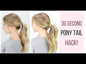 30 Second Ponytail Hack! - YouTube