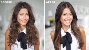 How to Tame Frizzy Hair - YouTube
