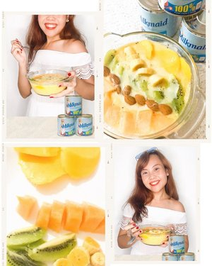 Best way to indulge myself? With delicious food of course! 🥰 Check out these 2 recipes I made, Tropical Smoothie Bowl and French Toast, that fed not only my tummy, but also my heart! 💖 Made extra more special with my secret ingredient, @milkmaidindulgence condensed milk ✨ creamier & richer taste in every bite! 😋 #IndulgeYourWay