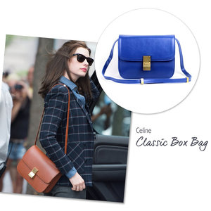 Anne Hathaway with the Celine Classic Box Bag
