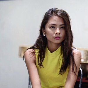 Yellow.  Earrings: @arva.co Dress: @ninthcollective #clozette (pimple c/o the haze LOL)