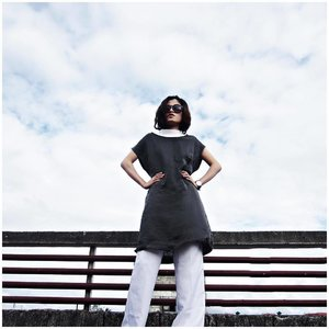 I'm on top of the world, wearing this @mnlstreetwear satin tunic top. #mswmuse #clozette