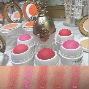 Earlier today at @lm_laduree 💗 Swatches of the lovely Cream Cheek Base Blushers for you! #Clozette #makeup