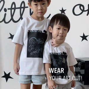 """Chalk on series By @toddleythoughts brings out the artist in your child.  Simply draw wear, wipe or wash off then repeat.  They make great gifts for Christmas!  From now till 13nov, enjoy 20% off """"Chalk-on'' series + my Code < JEAN10> get additional 10% off! Link in bio!  #ootd #matchy #chalkart"""