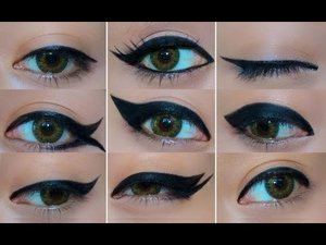9 Different Eyeliner Looks - YouTube