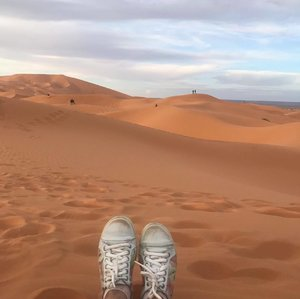 Ticked off watching sunset in the Sahara Desert from my bucket list👏🌻😊 #Clozette