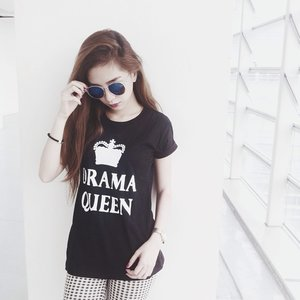 Drama Queen shirt from @belezzy 👑 Thank you 👄 || #clozette #blogger #pilipinasootd #basic