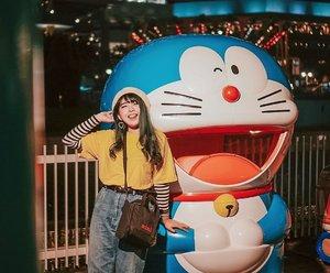 Doraemon & me / . 📷 @williamiskandar . . . . #clozette #clozetteid #yokohama #yunitainjapan #japan #explorejapan #wheninjapan #travel #doraemon #cosmoworld