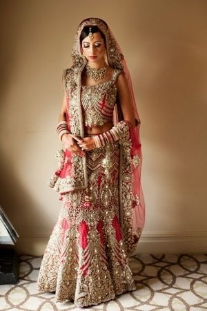 Extravagant Fully Embroidered Bridal Lehenga looking fully graceful based on georgette fabric with heavy zardosi work on choli and lehenga. Lehenga is slightly fish cut style with lots of crystal and stone work. Dupatta is Fully Embroidered for Bridal to give beautiful look with heavy borders.