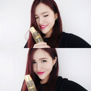 Finally tried out the new 24K Bio-Gold series by Bio-essence! Gotta love this light weight Bio-Gold water because it not only makes my face glow but also helps to simulate skin renewal! #24Kbiogold #glowlikegold #bioessence #clozette