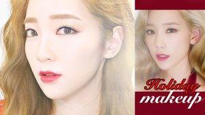 Dear Santa Taeyeon inspired holiday makeup