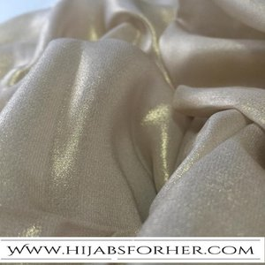 Golden Chiffon Long Wrap With Shiny Glitter. This is your Luxurious Golden wrap an Iced Chiffon Wrap a unique HFH Fabric & Design .