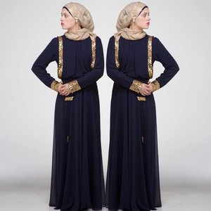 LAYALE HFH evening navy dress with Gold Sequin. Available again!!! This dress was just restocked.