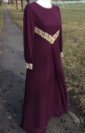 HFH Collection winter 2016  MOUNIRA II Evening Beautiful purple dress by HFH