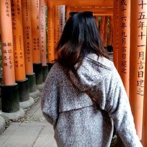 Walking through the ⛩⛩⛩ #joduluwanderlust #japan #fushimiinarishrine  #clozette #cooljapan
