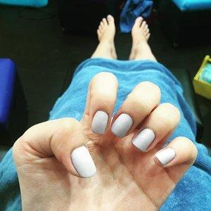 Had the chance for a pamper day 😂👏🏻💅🏻 #mattenails #beautyandbutter #polish #notd #pamper #beauty #clozette