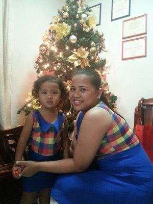 Me and my daughter with the same outfit to celebrate christmas party ;)