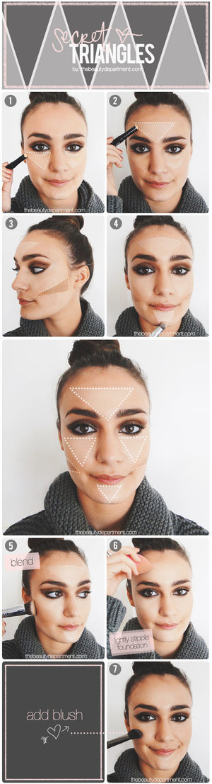 Here's how you can create that Kim Kardashian contour: http://thebeautydepartment.com/2014/10/highlight-and-contour-trick/  Your personal stylist, Roxanne   P.S. Something awesome brewing on the blog tomorrow! Hint: It's pink!