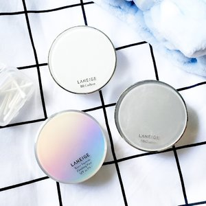 Laneige Brightening BB Cushion Review is up on blog 💙 Photo Featuring LANEIGE'S: Anti-Aging Cushion [#13] Brightening Cushion [#13] Water Supreme Finishing Pact [#1]  www.yourgirlboss.blogspot.com