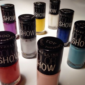 my #Maybelline #ColorShow collection #clozette #clozetteid #nails www.clozette.co/glammama