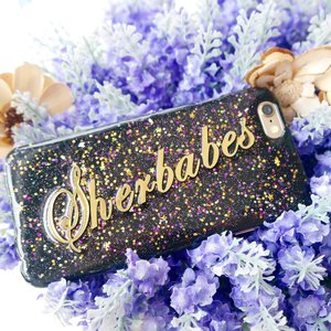 🌟 My personalized glitzy Sherbabes phone case😍