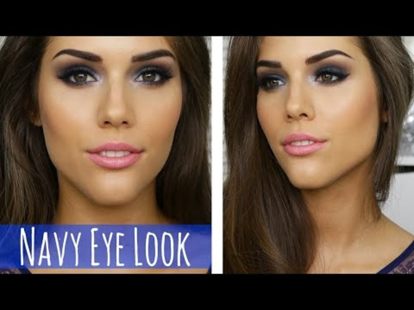 BLUE SMOKEY EYE MAKEUP TUTORIAL | Prom, Party, Clubbing or Special Event Makeup - YouTube