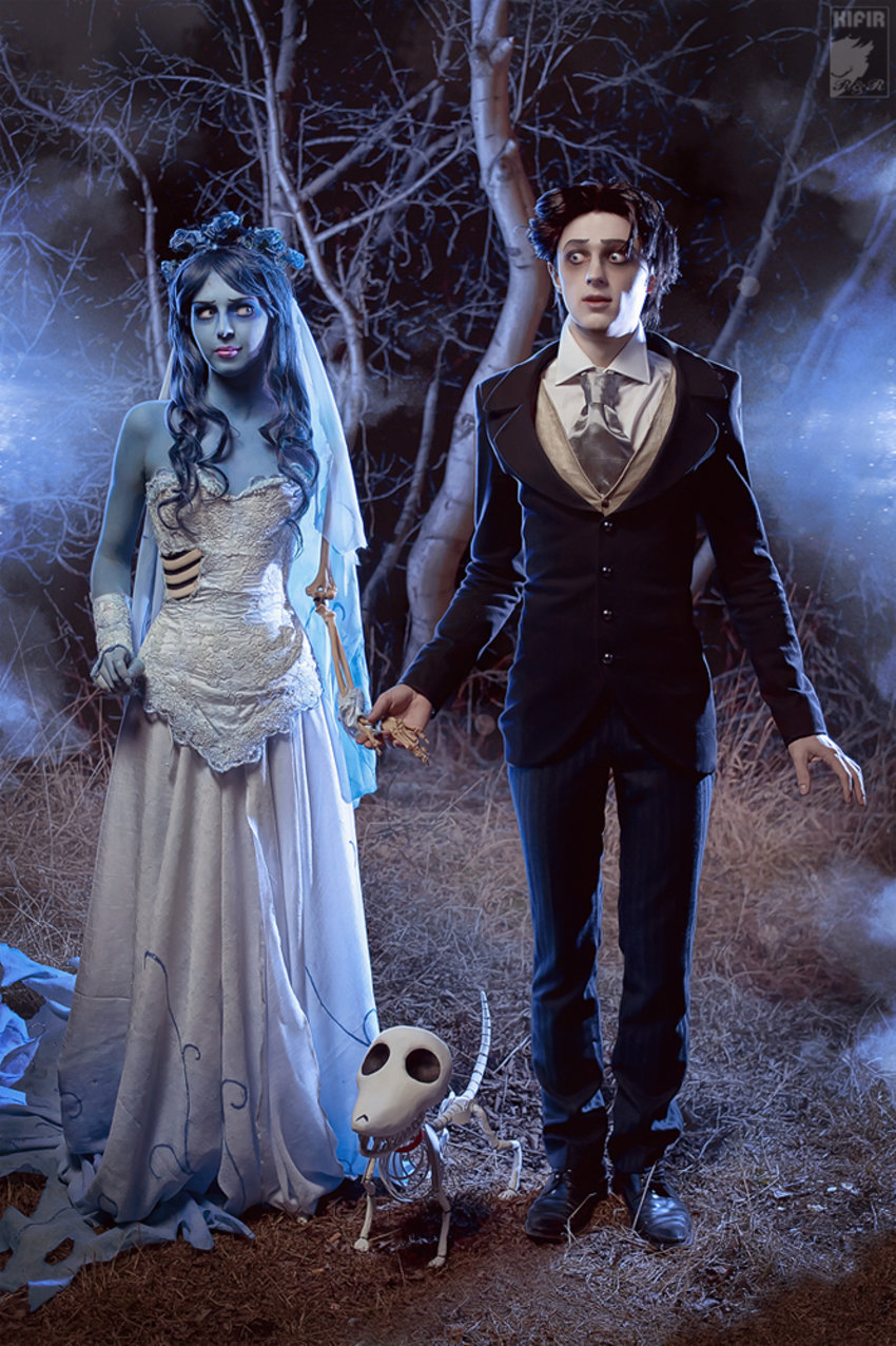 Stunning Corpse Bride cosplay by Rei-Doll on deviantART. I just love that her makeup doesn't feature GIGANTIC eyes like other corpse bride makeup does. Find more of her work here: http://rei-doll.deviantart.com/