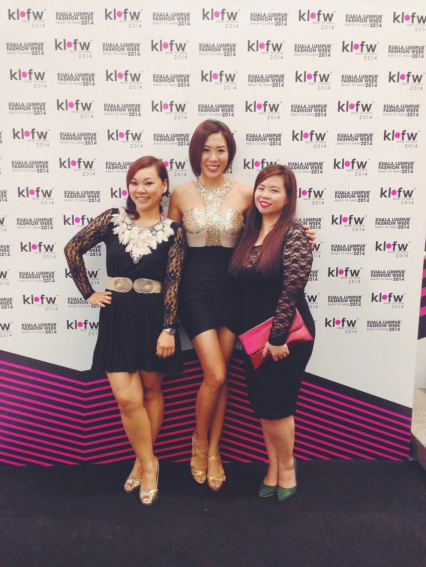 With them ladies at KLFW last night