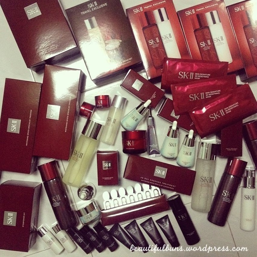 My SK-II stash of goodies in my room - I really need a proper storage system zomg!