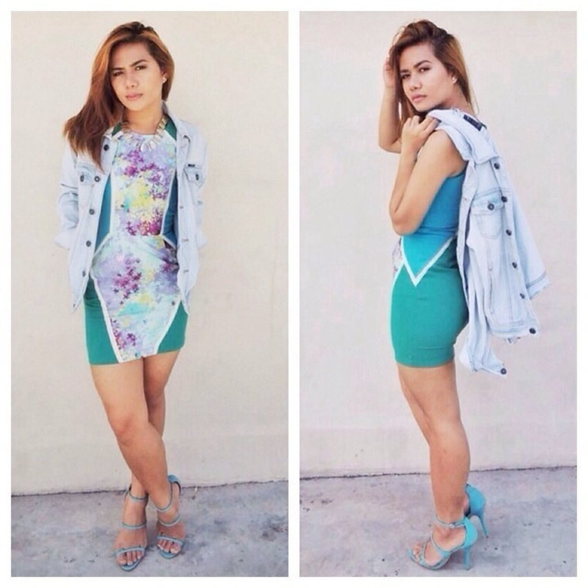 Curve hugging dress ✖️denim jacket ✖️sexy heels #pilipinasootd #outfitinspirations #igfashion #ootd #mystyle #instafashion #webstagram #igdaily #igersmanila #all_shots #iphoneasia #chictopia #ignation #asianfashion #streetstyle #lotd #wiw #lookbookdotnu #aboutalook  More about this look soon on my blog http://fashtriad.blogspot.com/
