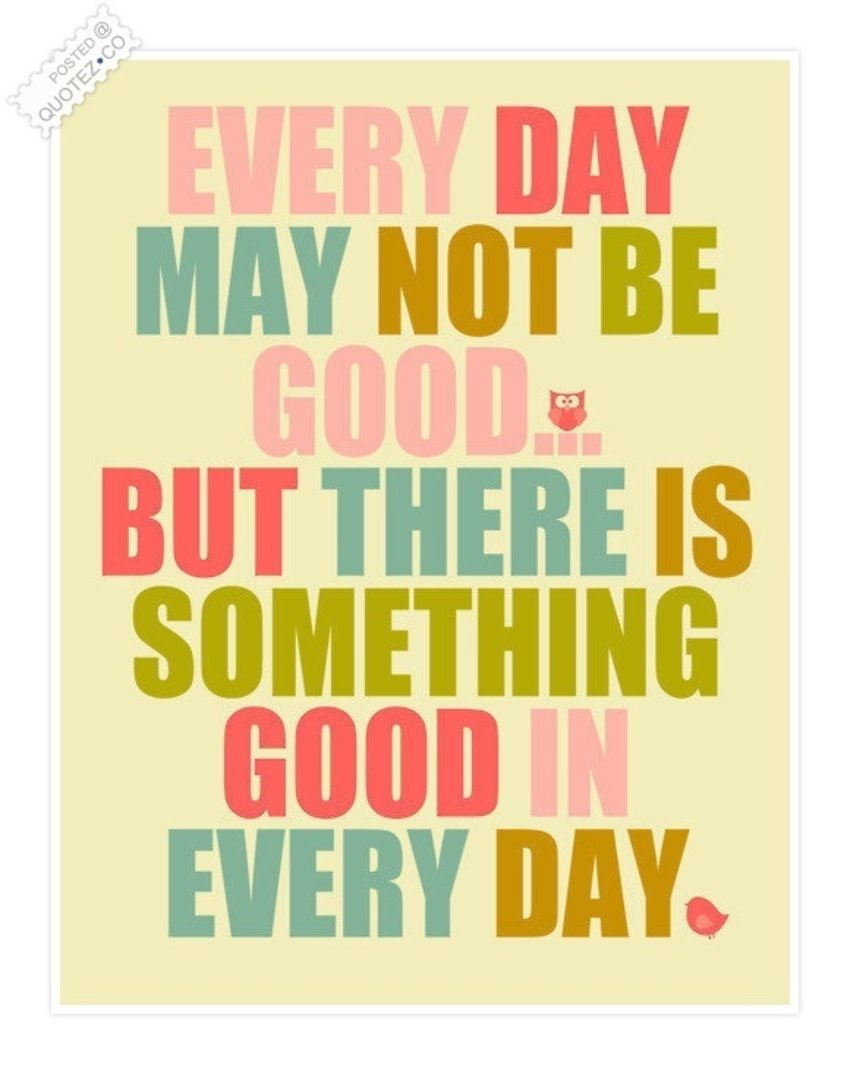 Agree! I have something good today, that's my chocolate! :)