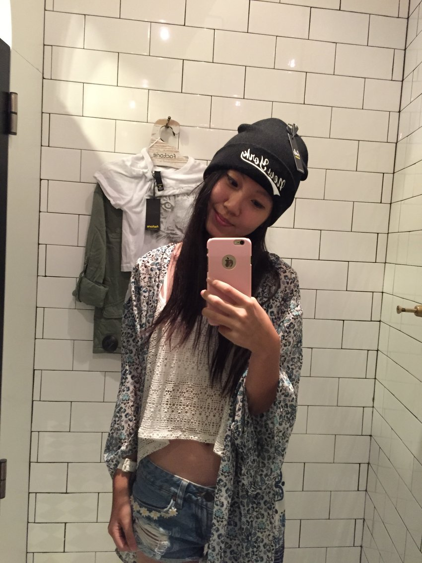 What i actually wore ( except the beanie ) hehe