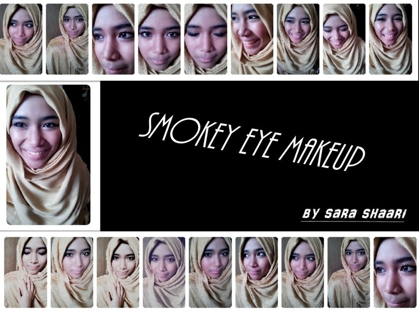 Ignore some of my annoying faces. Smokey eyes (almost) by my sis!