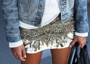 Denim and embellishment