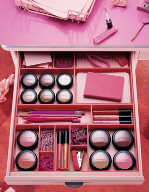 Will sing for a pink desk full of makeup!