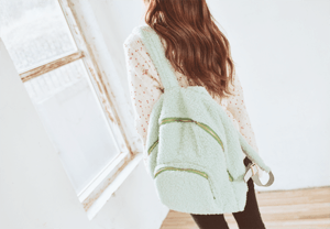 Mint fuzzy bag