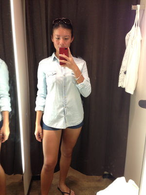 Zara top with Roxy shorts . Perfect casual outfit.  (weather in between 79F - 90F)