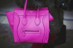 celine bag in fuchsia