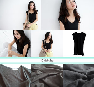 Scarlet Black Top Made of smooth cotton fabric, stretchable Length: 28 Shoulder: 17 Ptp: 28