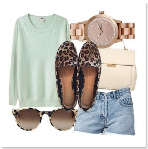 Leopard and mint is perfection!
