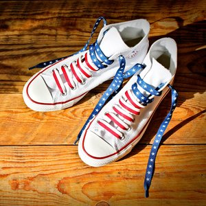 American Flag Crazy Laces